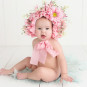 baby, bonnet, flowers, smile