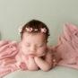 froggy, newborn, pink, mint, flowers