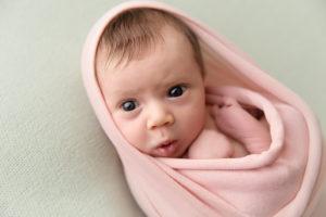 newborn, wrap, mint, girl, pink