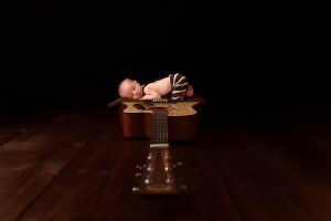 guitar newborn idea, baby boy