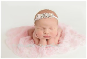 pink and white, froggy pose, newborn girl ideas