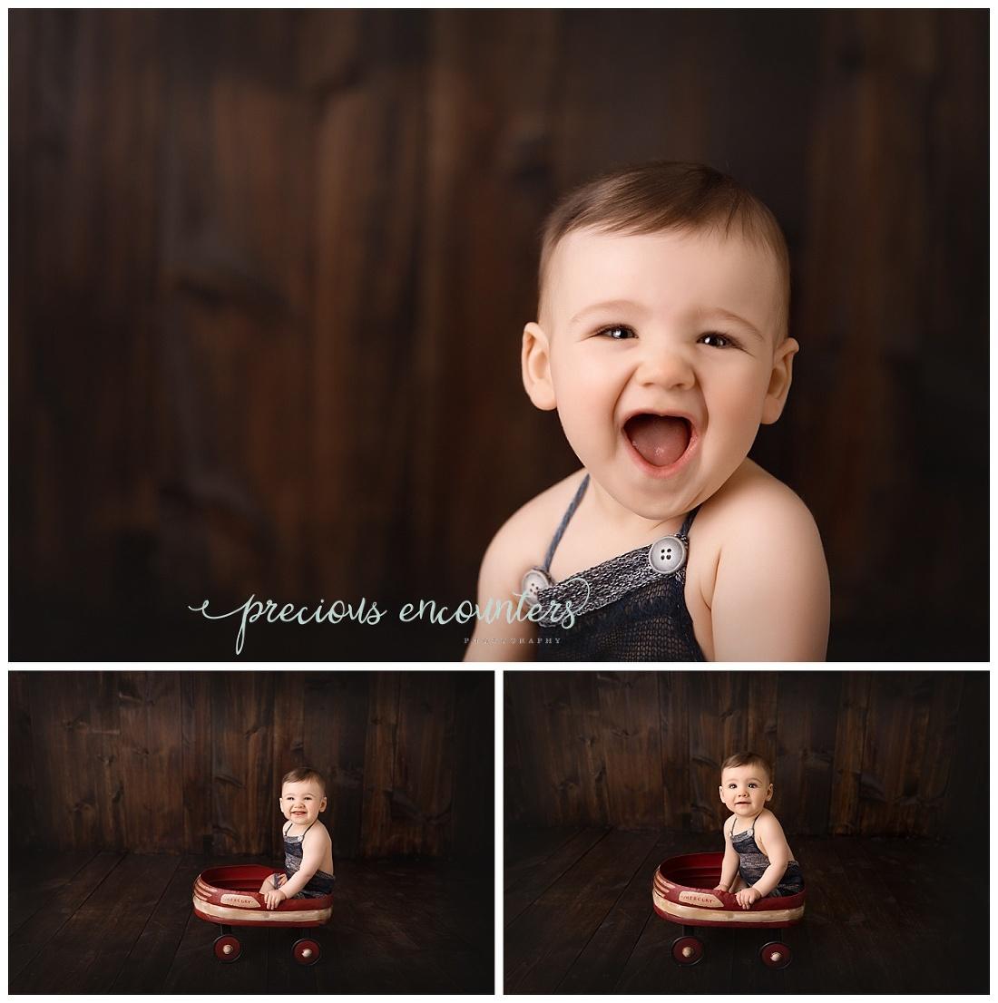 red wagon, boy, portraits, dark wood backdrop