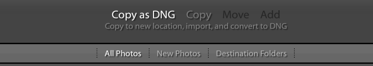 Lightroom, Culling, exporting, converting, DNG