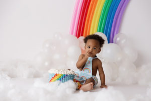 rainbow, cake smash, boy, colorado springs, photographer