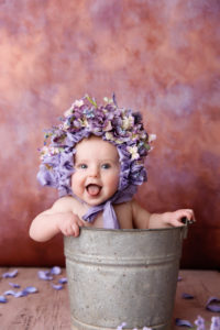flower bonnet, flowers, bucket, vintage