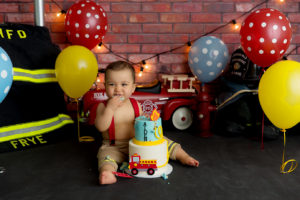 cake smash, firefighter, pole, truck, firetruck, Colorado