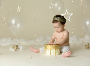 cake smash, stars, simple, elegant, king, boy, Colorado Springs